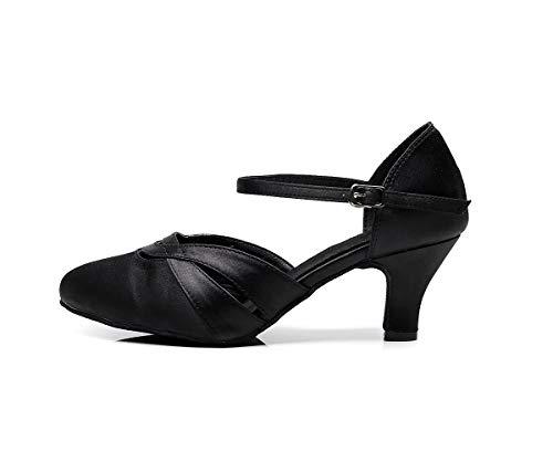 Image of BAYSA Women's Comfortable Low Heel Satin Wedding Ballroom Latin Taogo Dance Shoe Heel 2.2