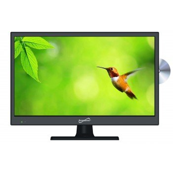 SuperSonic 1080p LED Widescreen HDTV with HDMI Input, AC/DC Compatible for RVs and Built-in DVD Player, 15-Inch