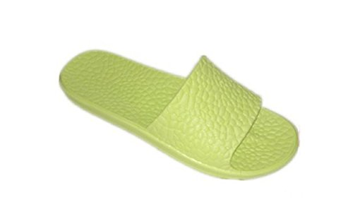 DINY Home & Style ladies Women's Slide Sandals Non Slip House Slippers Beach Pool Spa (7, Lime Green)