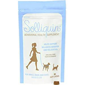 NUTRAMAX Solliquin Soft Chews 60Ct for Small Dogs & Cats, Brown