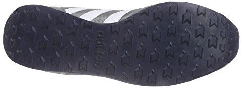 adidas Neo City Racer, Zapatillas de Deporte para Hombre Gris / Blanco / Rojo (Gris / Ftwbla / Rojbri)