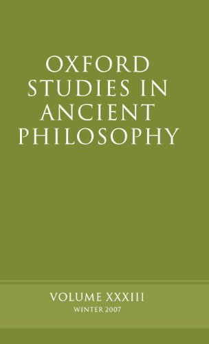 Oxford Studies in Ancient Philosophy: Volume 33