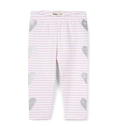 Bloomers Pink Heart - Hatley Baby Girls Leggings, Shimmer Hearts, 3-6 Months