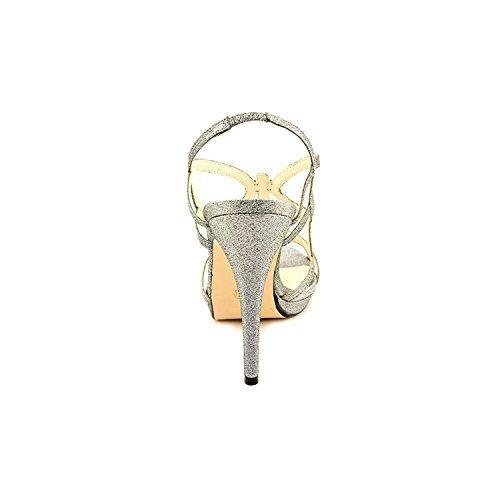 Caparros Womens Macarena Open Toe Slingback Platform, Mercury Glimmer, Size 8.0