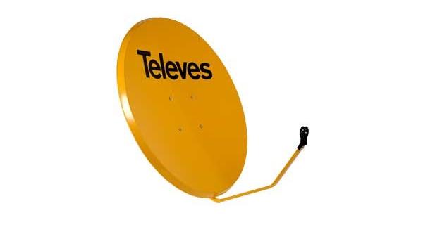 Televes 7534 - Antena parabolica hierro 1000 naranja: Amazon ...