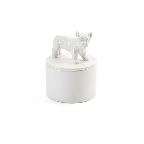 Boston Terrier White Ceramic Jewelry (Bulldogs White Ceramic)