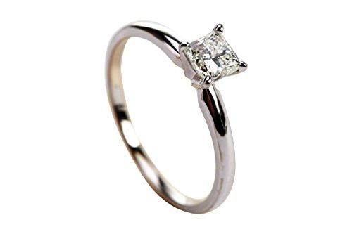 0.47 Ct Princess Diamond - 3