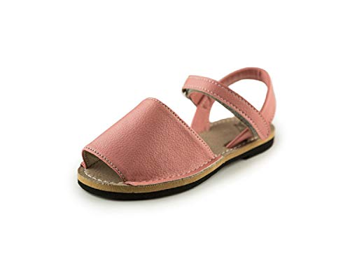 7d8cdee0 Subibaja Martina - Classic Menorquina | Avarca Sandals with with Adjustable  Straps for Girls SP11 Salmon