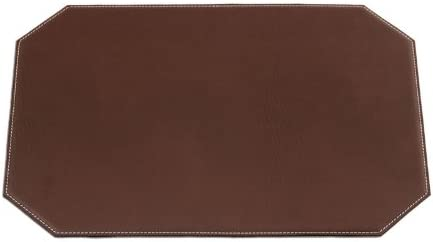 Dacasso Rectangular Black Leatherette Placemat 17-Inch by 12-Inch