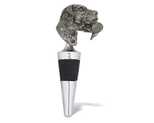 (Vagabond House Labrador & Duck Pewter Bottle Stopper 5.75