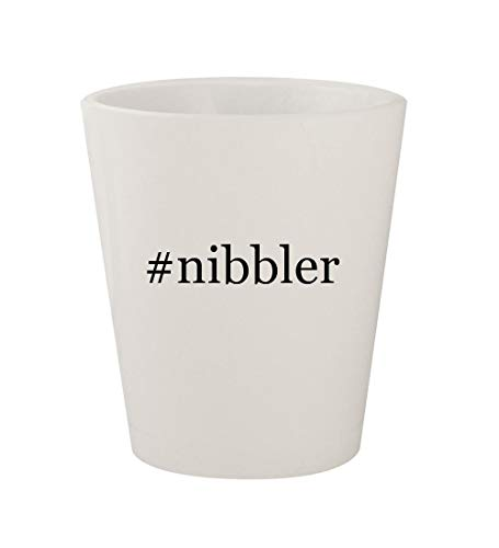 #nibbler - Ceramic White Hashtag 1.5oz Shot Glass