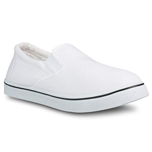 Influence Men's Gore Slip-On Casual Sneaker, WHITE, Size 10