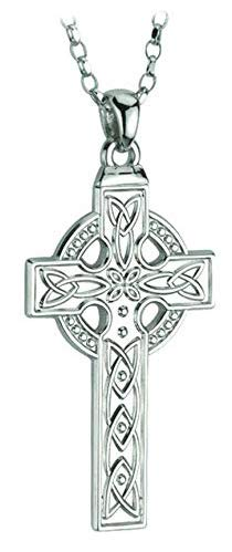 (Cross Sterling Silver Necklace Mens 24