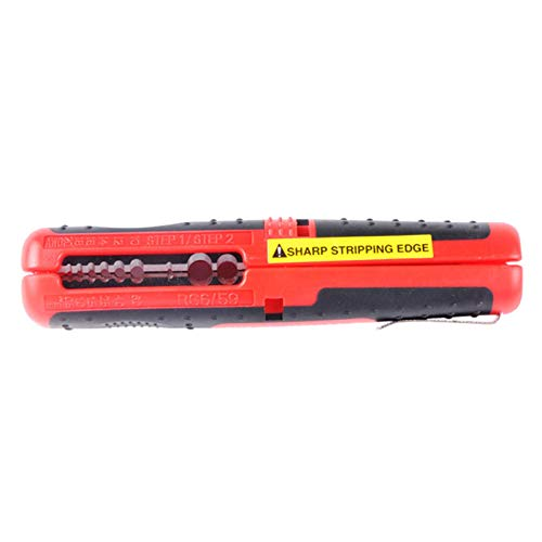 CP-511A 3 in 1 Multifunction 10-20AWG Coaxial Cable RG59 RG6 8-13mm Strippers Stripping Knife