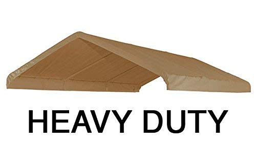 TTT 10X20 Heavy Duty Waterproof Beige Valance Canopy Cover by TTT