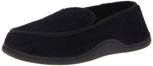Isotoner Men's Microterry Slip On Slippers,  X-Large,  (Canvas Slippers)