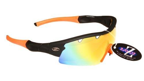 Deportes Wrap ventilación una Negro ligeros Rayzor Oro de espejo con antideslumbrante pieza lente con 1 Iridium Running sol profesionales UV400 Gafas BqIFxwS