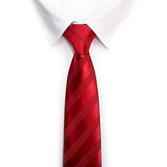VIZENZO corbata roja mono rayas: Amazon.es: Ropa y accesorios