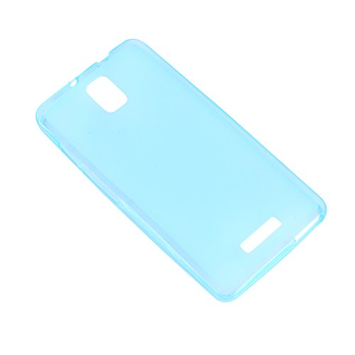Lusee® Funda de silicona para Alcatel One touch Pop Star 4G 5070X 5070D Suave Cascara TPU azul semi transparente
