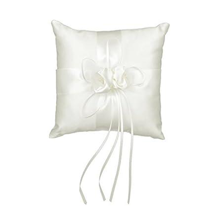 Cinta Bud boda anillo almohada cojín portador 20 x 20 cm ...