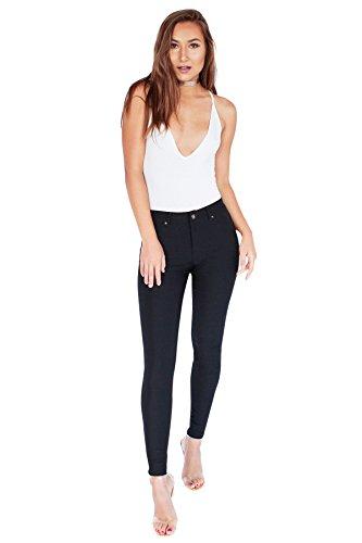 Be Bop Bebop Womens Black, Large, Skinny Leg Fleece Lined Stretch Pants Black Fleece Skinny Pant