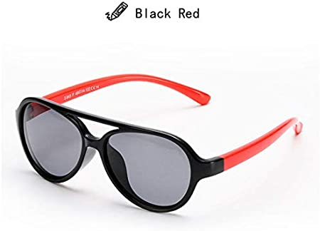 Lenses Color: Black, Frame Color: Picture Color Utini Ralferty Flexible TR90 Kids Sunglasses Polarized Oval Sun Glasses UV400 Eyewear Accessories Child Girls Boys Goggles Shades 843