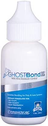 Ghost Bond XL Hair Replacement Adhesive - 1.3oz - Invisible Bonding Glue: Extra Moisture Control - Light Hold For Poly and Lace Hairpiece, Wig, Toupee Systems