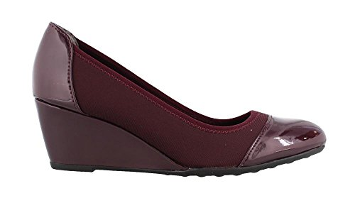 Lifestride Womens Juliana Stretch Zeppa Pump Rosso Scuro