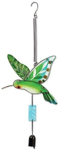 Sunset Vista Designs Jumbo Fusion Glass Hummingbird Bouncy Hanging Decoration