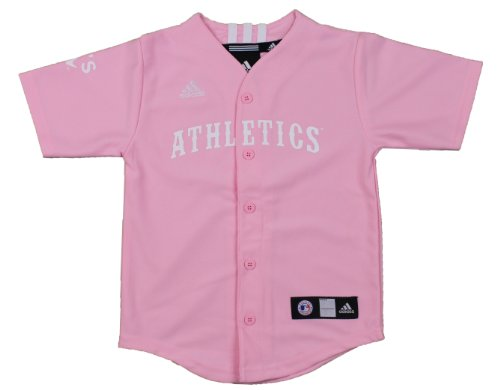 MLB Oakland Athletics Toddler Pink Jersey By Adidas