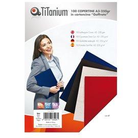 TITANIUM 100 copertine a3 cartoncino goffrato 250g nero titanium CAA3-01-SL
