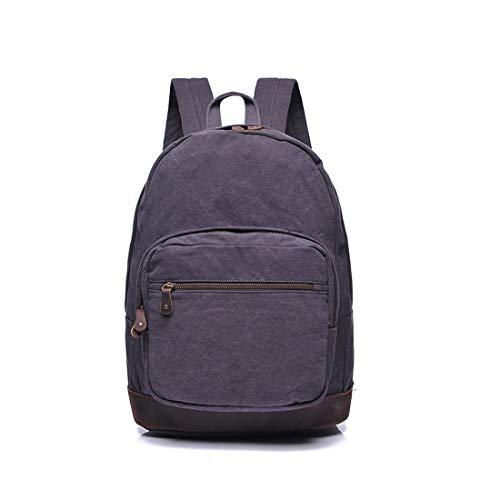 Al Estudiante Lona Laptop Gray Libre Impermeable Hombres Aire Weatly Gray Cremallera Mochila color mujeres Bag Compras fRBwwdq