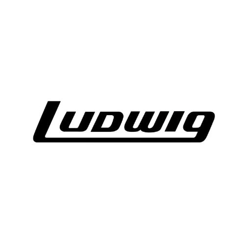 Ludwig-AV8042-Bass-Drum-Decal-Black-on-Clear