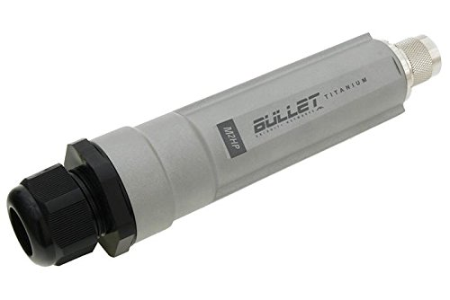 Ubiquiti BulletM5-Ti, 5 GHz Titanium Outdoor Radio with POE Station, Access Point, AP Repeater, 600 mW, 400 MHz Processor, 32MB RAM by Ubiquiti Networks