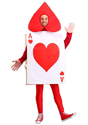 Adult Ace of Hearts Costume Standard White]()