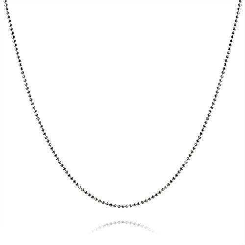 Bling Jewelry Sterling Silver 150 Gauge Italian Diamond Cut Ball Chain