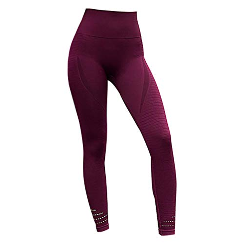 Price comparison product image High Wrist Sports Pants for Women,  Medium Impact Seamless Workout Leggings,  Stretchy Quick Dry Exercise Fitness Athletic Yoga Tights