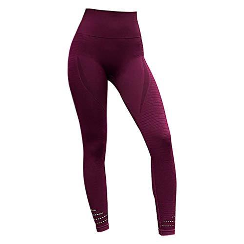 Yoga Leggings for Women High Waisted Tummy Control Workout Leggings -Soft & Slim Red