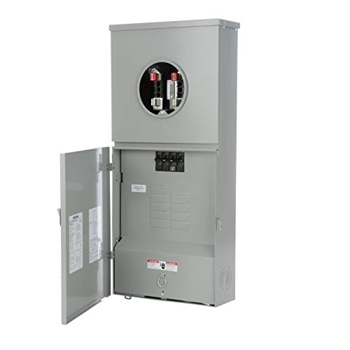 Siemens Meter (Siemens MC0816B1200CT 8 Space, 16 Circuit, 200-Amp Main Breaker Meter Combination With A Ring Type Cover)