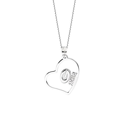 Green Bay Packers Necklace Licensed NFL Team Heart Pendant Sterling Silver