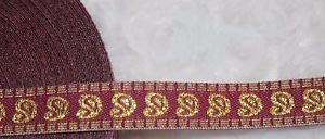 """3 Yards 1 Maroon Gold Paisley Jacquard Woven Sewing Craft Ribbon Trim 1/2"""" w27 Florist, Flowers, Arts & Crafts Gift Wrapping"""
