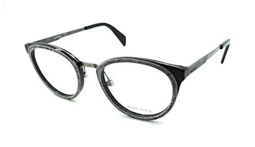 Diesel Rx Eyeglasses Frames DL5154 005 50-20-145 Light Grey Denim/Distressed