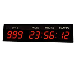 BTB SIGN Large Digital Wall Clock Countdown Count Up 999 Days for Retirement 3''
