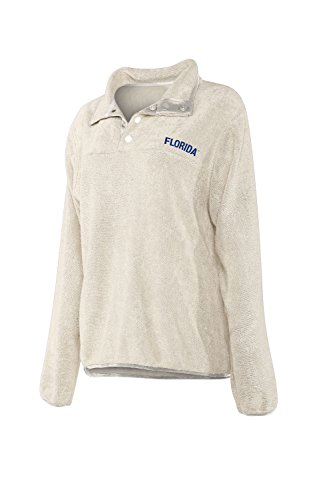 chicka-d NCAA Officially Licensed University of Florida Ladies Looped Terry Snap Pullover/Quarter Button Up/Sweater - Florida Gators Women's - Gators Florida Snap