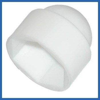 Tornillo y tuerca de tapones embellecedores de protección blanco M16 - , 50 unidades