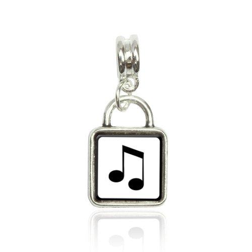 Musical Note Euro European Italian Style Bracelet Bead Sqr Charm