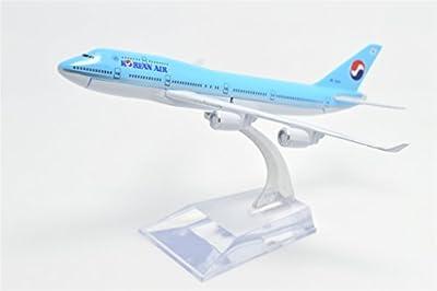 TANG DYNASTY(TM) 1:400 16cm Boeing B747-400 Korean Air Metal Airplane Model Plane Toy Plane Model