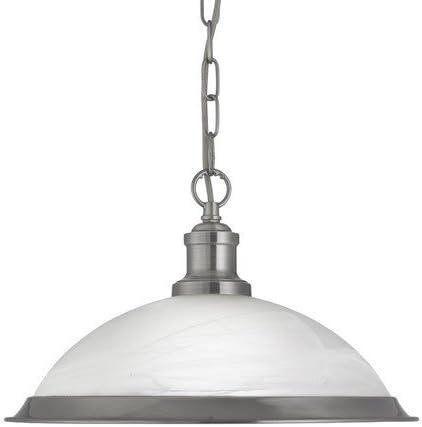 60 W Ref 1591SS Searchlight 1-flammige Bistroleuchte in satiniertem Silber silber
