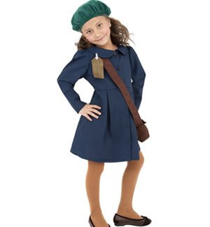 [World War II Evacuee Girl Costume Girl Fancy Dress] (World War 2 Evacuees Costumes)