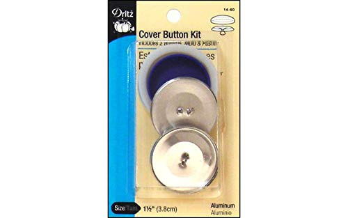 Dritz 14-60 Cover Button Kit with Tools, Size 60 - 1-1/2-Inch, -